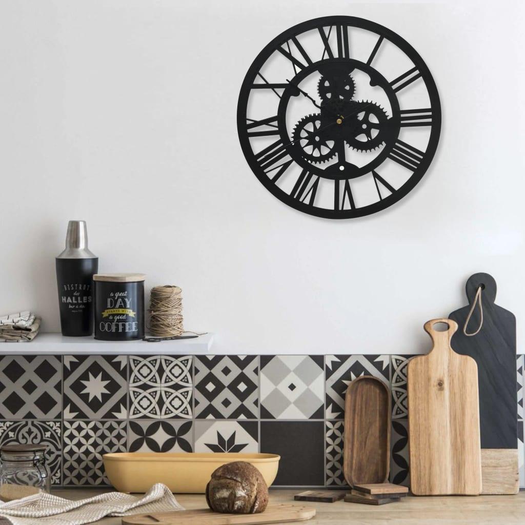 Nástěnné hodiny černé 30 cm akrylové