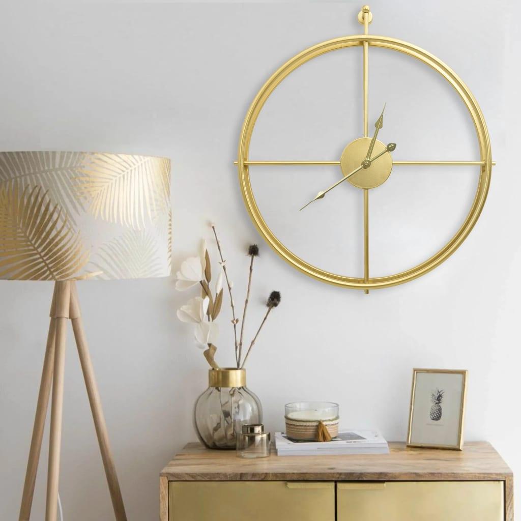 Nástěnné hodiny zlaté 52 cm železo