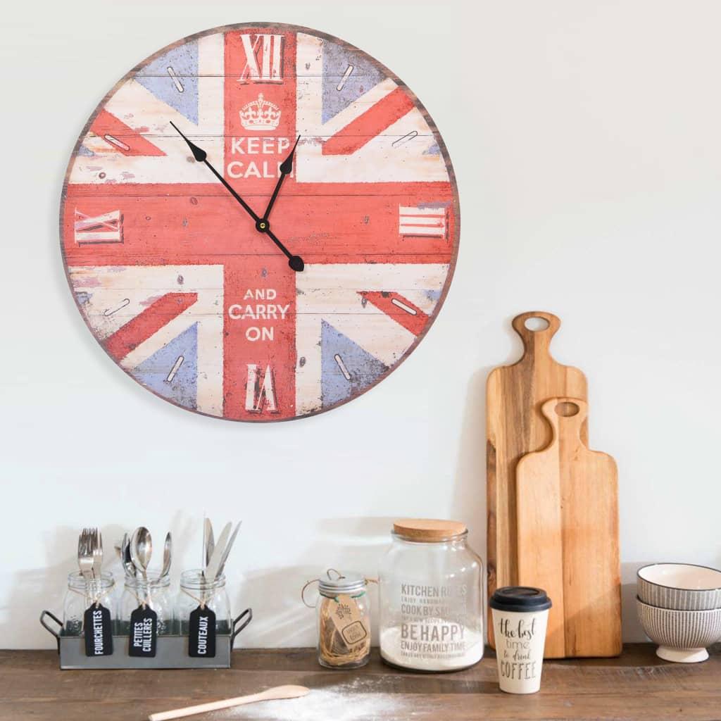 vidaXL Ceas de perete vintage UK, 60 cm poza 2021 vidaXL