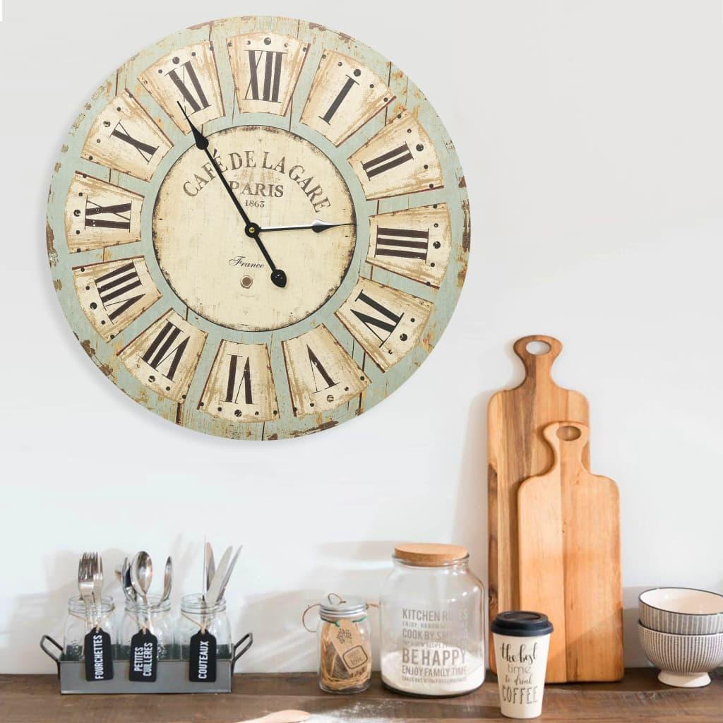 Nástěnné hodiny vícebarvené 60 cm MDF