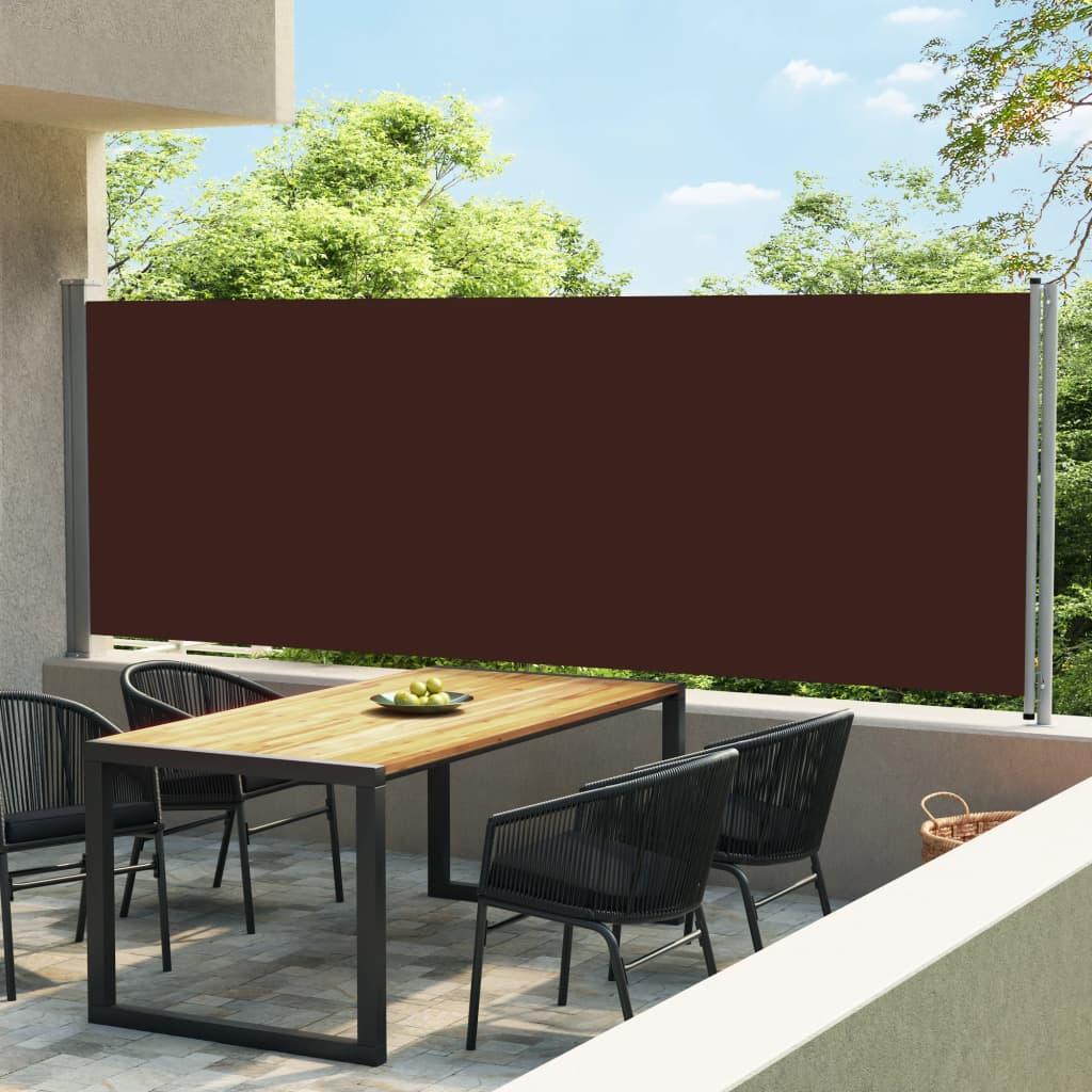 Tuinscherm uittrekbaar 600x160 cm bruin