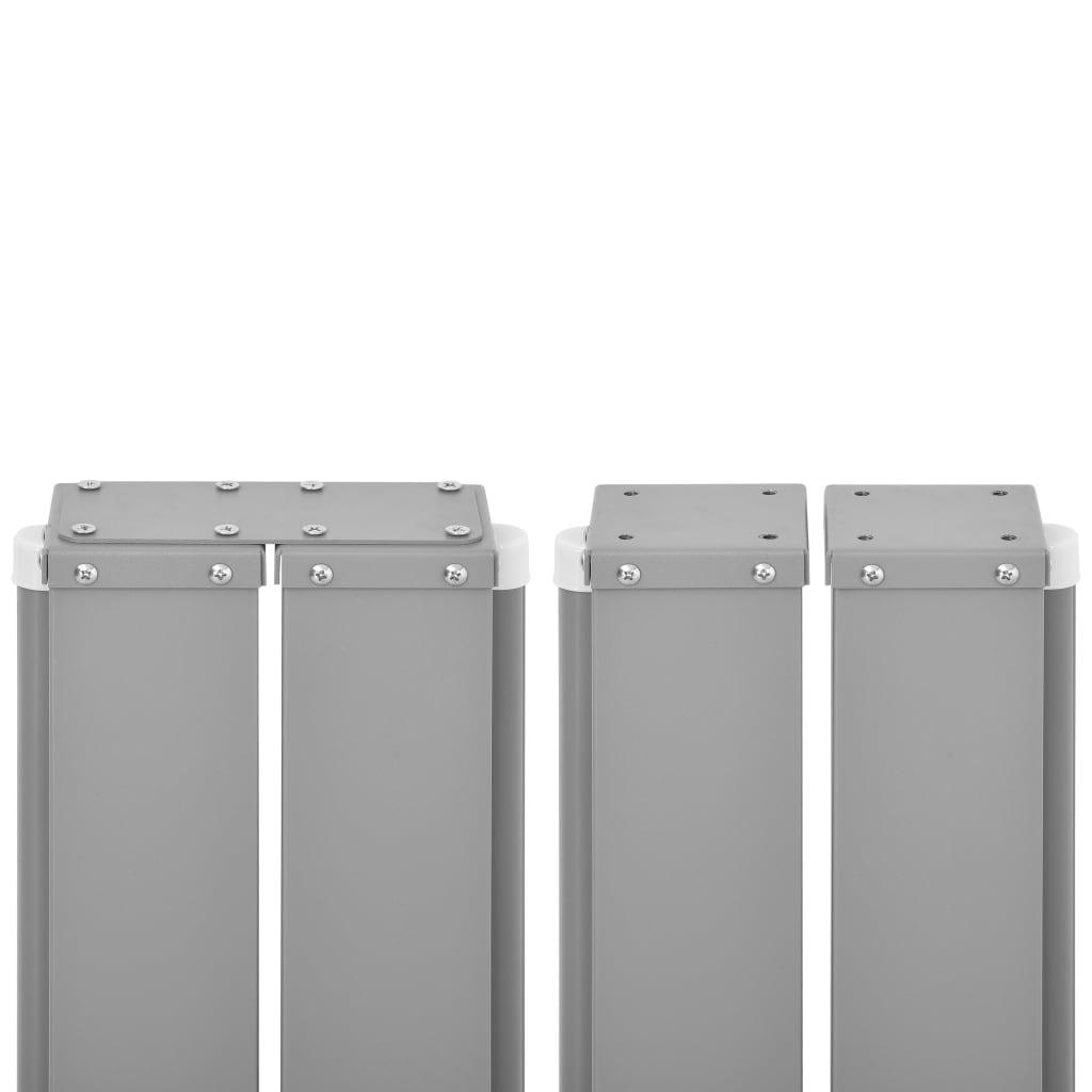 vidaXL Tuinscherm uittrekbaar 170x1200 cm bruin