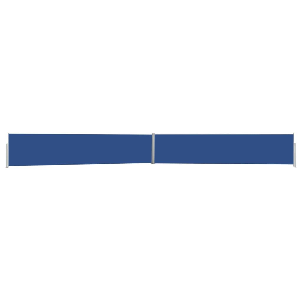 vidaXL Tuinscherm uittrekbaar 170x1200 cm blauw