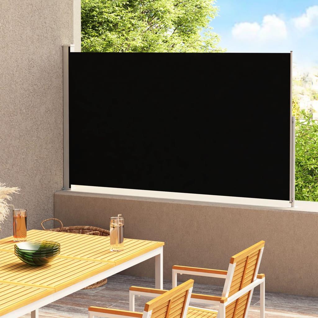 vidaXL Tuinscherm uittrekbaar 200x300 cm zwart