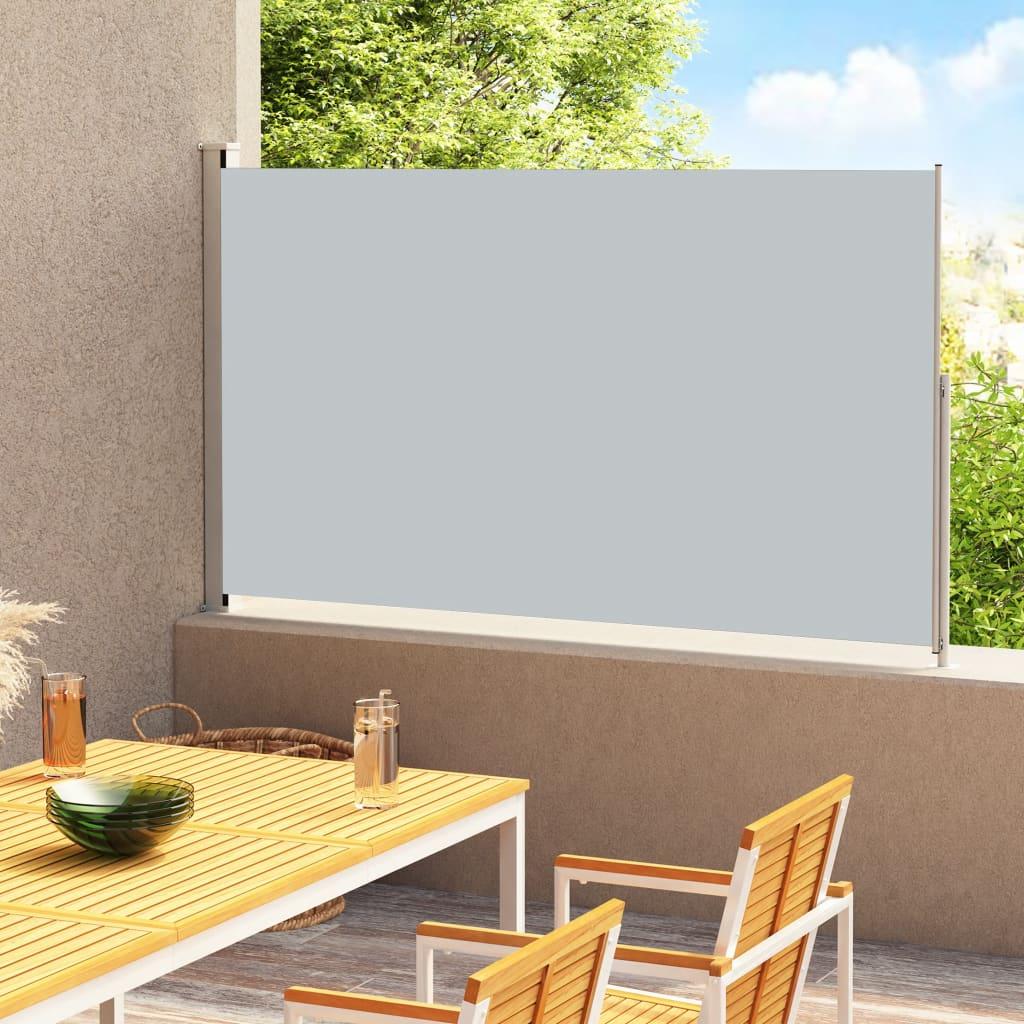 vidaXL Tuinscherm uittrekbaar 220x300 cm antracietkleurig