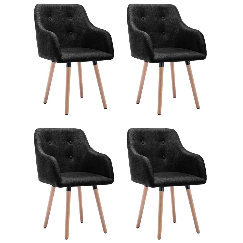 vidaXL spisebordsstole 4 stk. stof sort