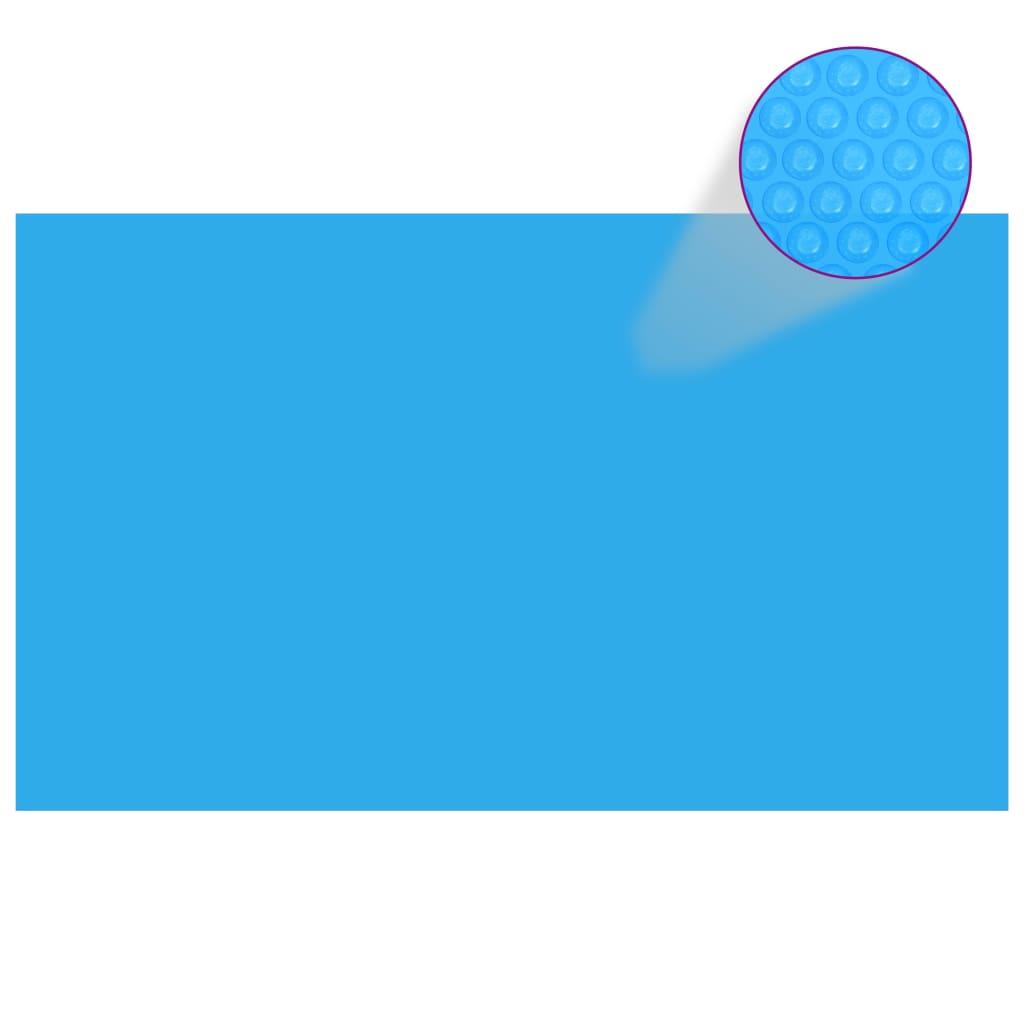 vidaXL Prelată piscină, albastru, 1000 x 600 cm, PE, dreptunghiular poza vidaxl.ro