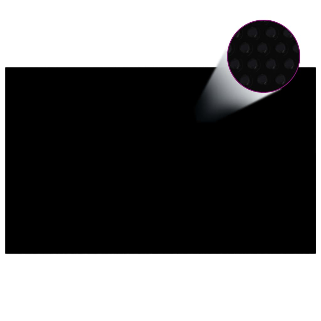 vidaXL Prelată piscină dreptunghiulară, negru, 500 x 300 cm, PE poza vidaxl.ro