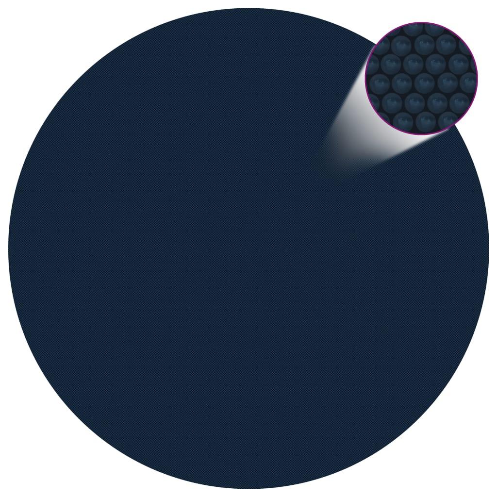 vidaXL fekete és kék napelemes lebegõ PE medencefólia 356 cm