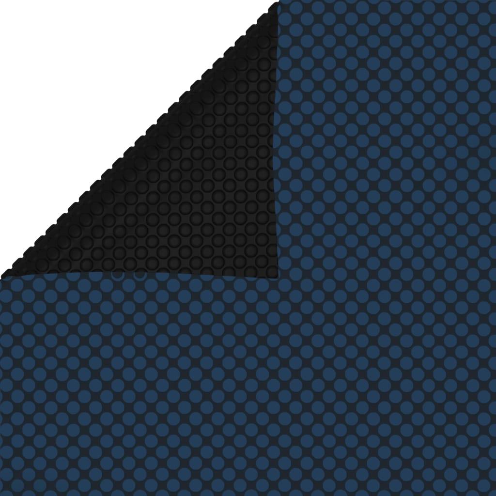 vidaXL fekete és kék napelemes lebegõ PE medencefólia 450 x 220 cm