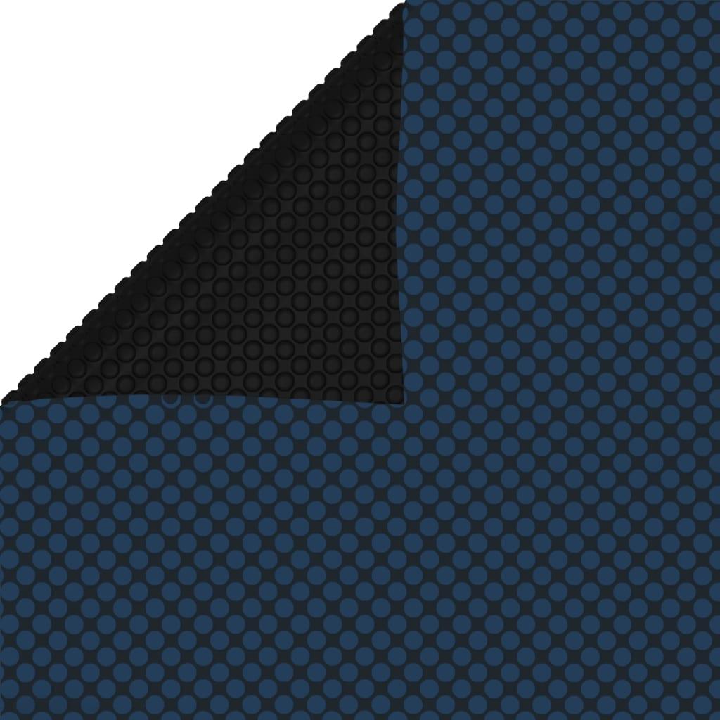 vidaXL fekete és kék napelemes lebegõ PE medencefólia 975 x 488 cm