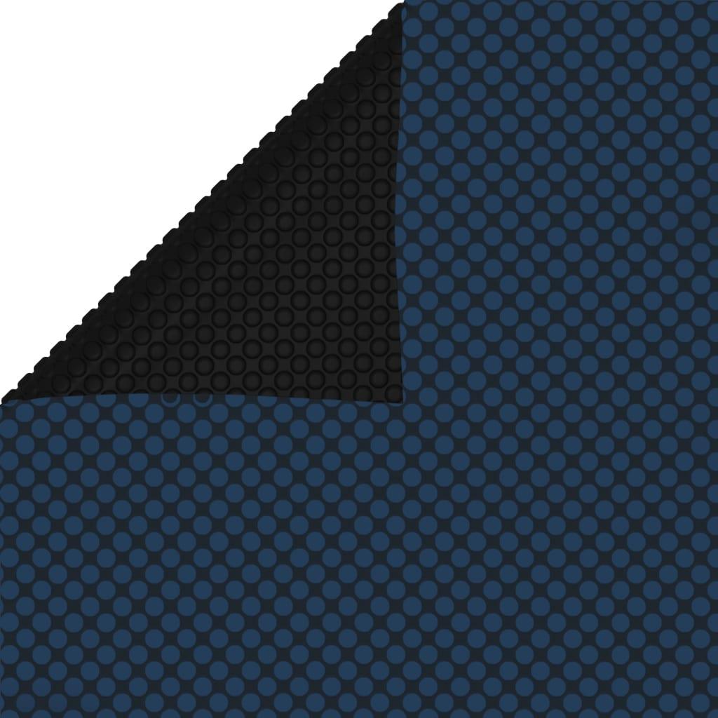 vidaXL Zwembadfolie solar drijvend 800x500 cm PE zwart en blauw