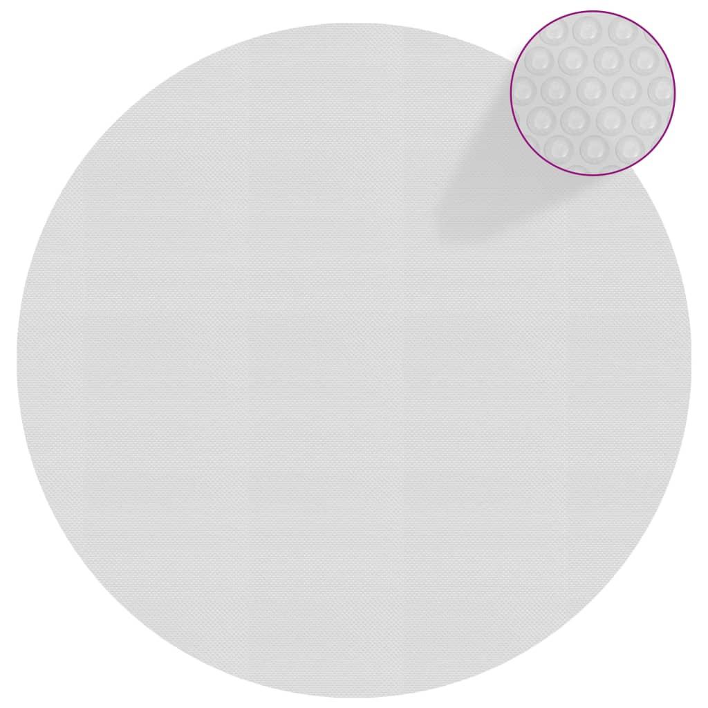 Plovoucí PE solární plachta 488 cm šedá