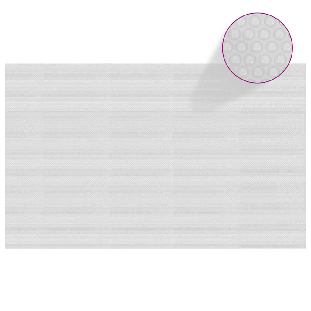 Plovoucí PE solární plachta na bazén 260 x 160 cm šedá