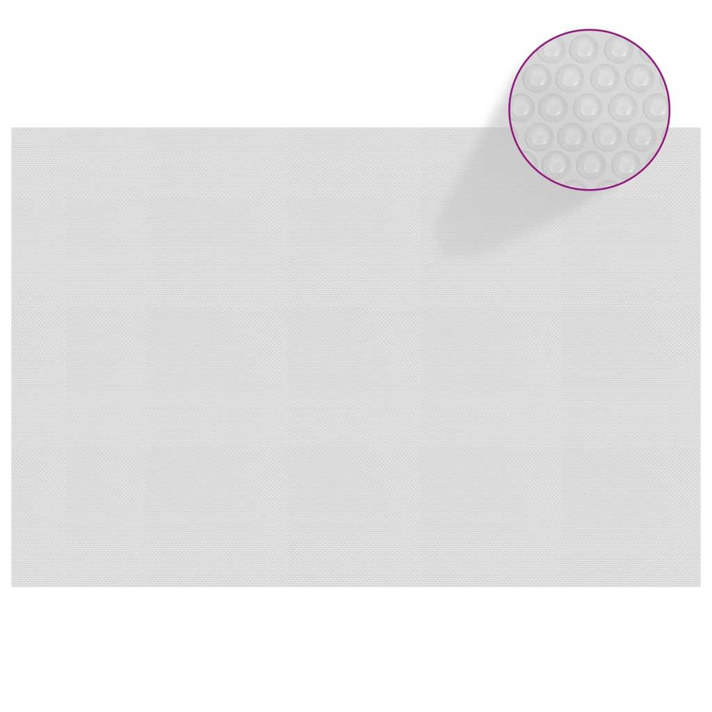 Plovoucí PE solární plachta na bazén 300 x 200 cm šedá