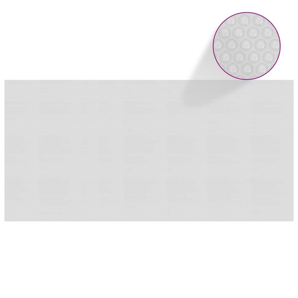 Plovoucí PE solární plachta na bazén 450 x 220 cm šedá