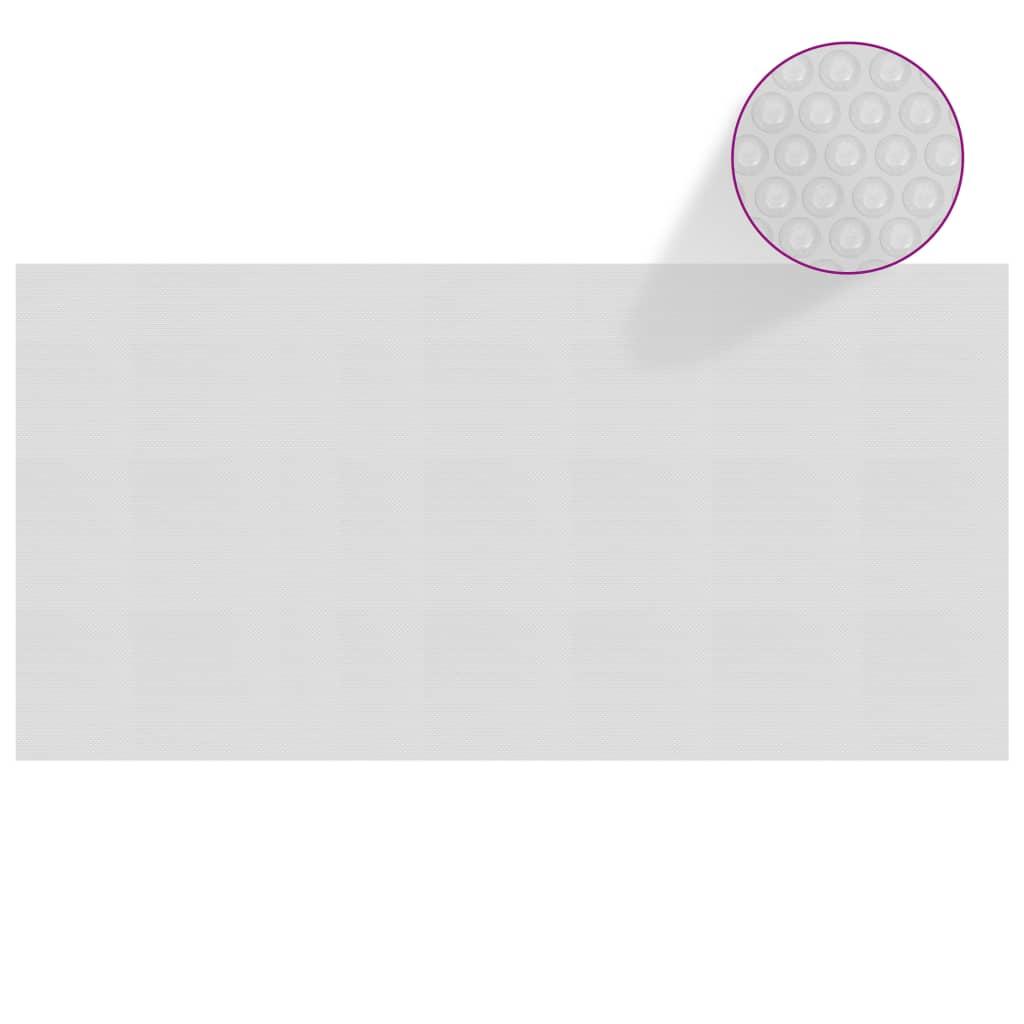 Plovoucí PE solární plachta na bazén 549 x 274 cm šedá
