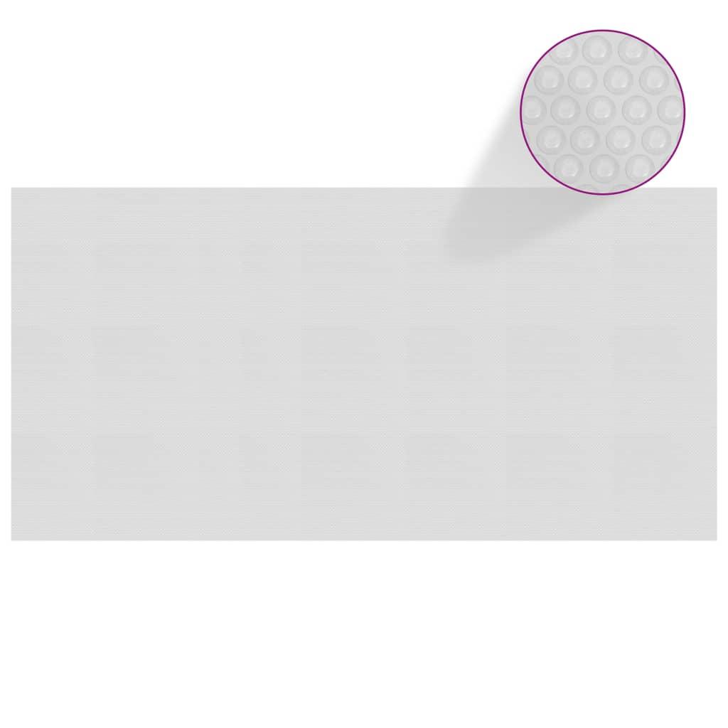Plovoucí PE solární plachta na bazén 732 x 366 cm šedá