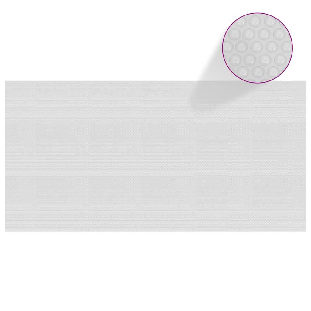 Plovoucí PE solární plachta na bazén 488 x 244 cm šedá
