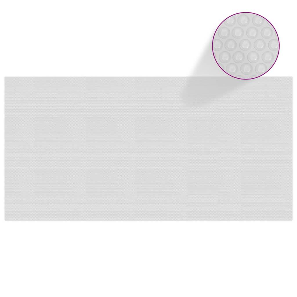 vidaXL Treibende Pool-Solarplane PE 975×488 cm Grau