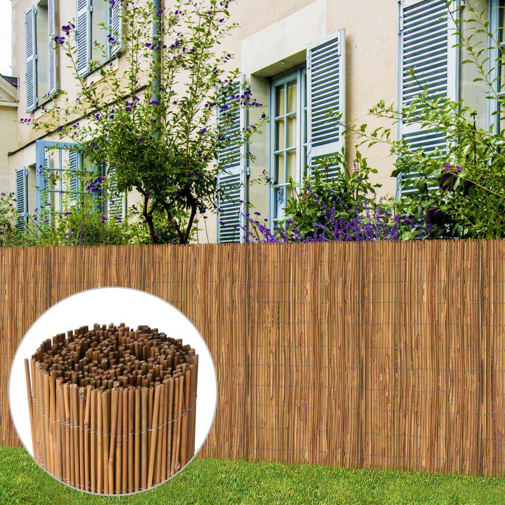 vidaXL Bambusový plot 500x125 cm