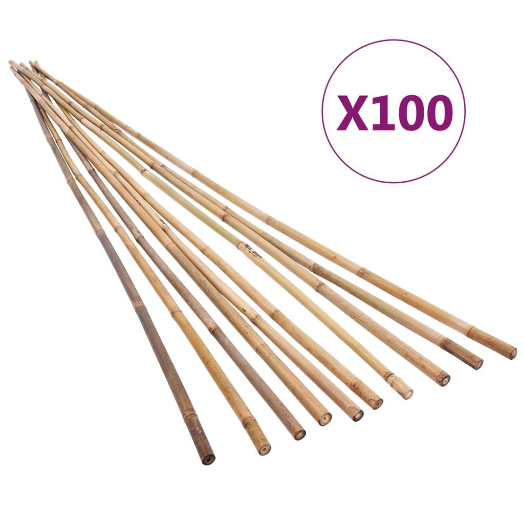 vidaXL Bețe de bambus de grădină, 100 buc., 150 cm imagine vidaxl.ro