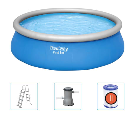 Bestway Fast Set Inflatable Swimming Pool Set Round 457x122 cm