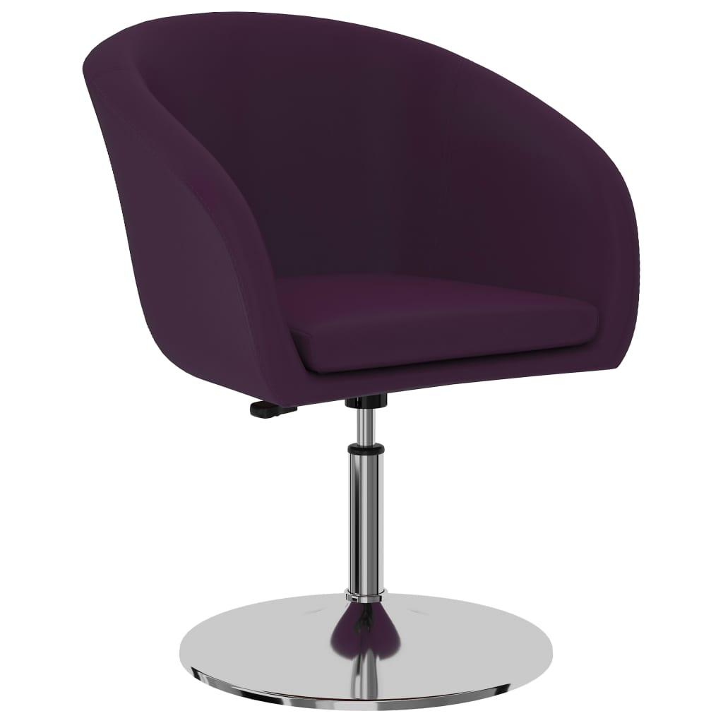 vidaXL Scaun de bucătărie, violet, piele ecologică imagine vidaxl.ro