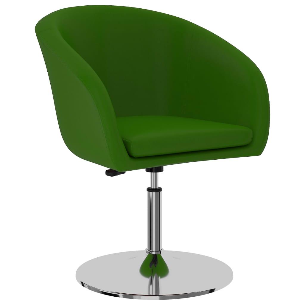 vidaXL Scaun de bucătărie, verde, piele ecologică poza 2021 vidaXL