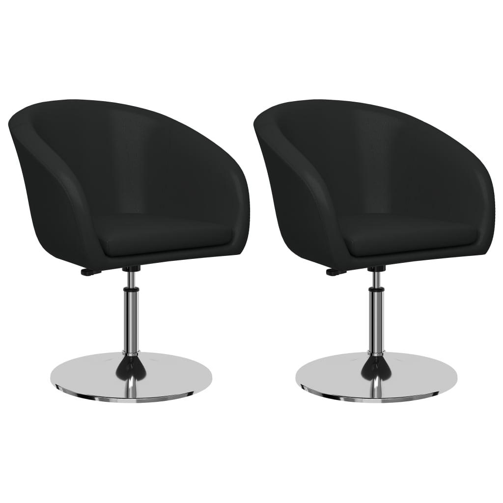 vidaXL Krzesła stołowe, 2 szt., szare, sztuczna skóra