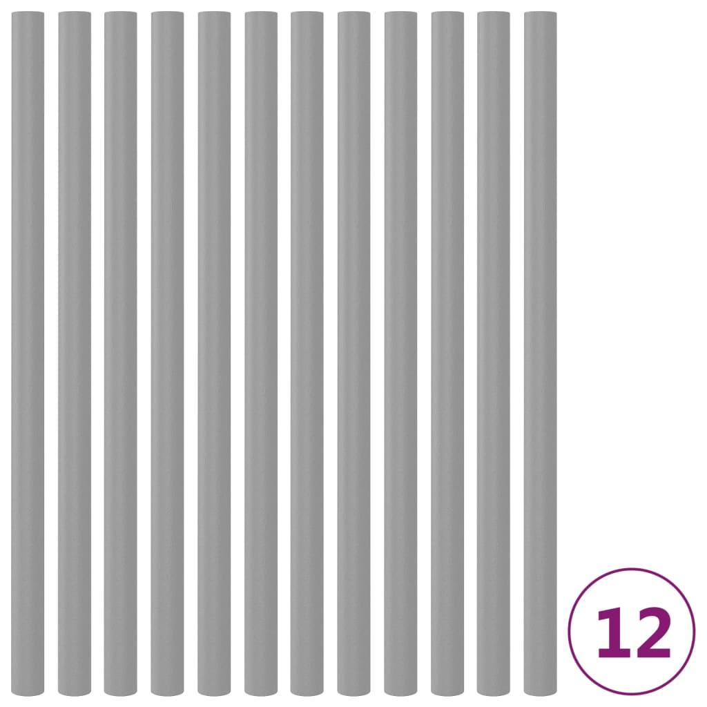 Pěnová ochrana na trampolínové tyče 12 ks 92,5 cm šedá