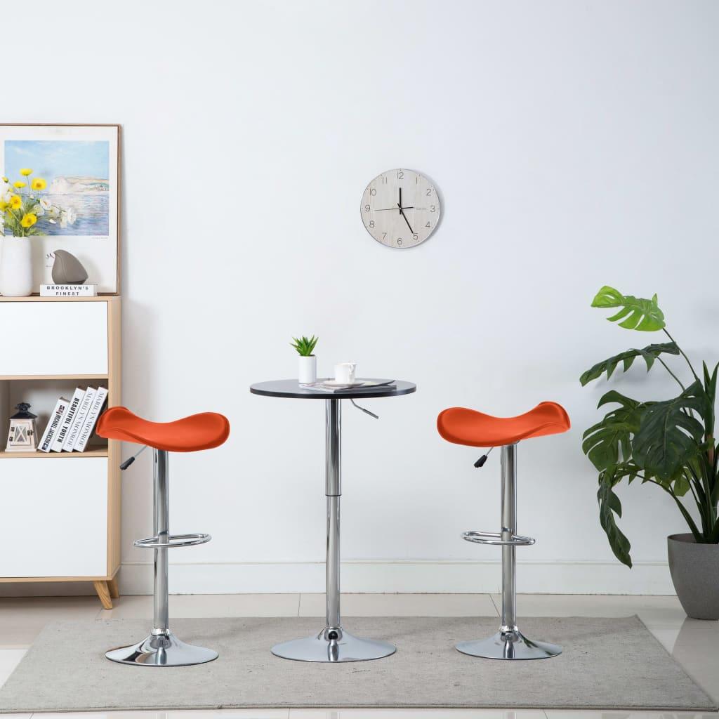 Barové stoličky 2 ks oranžové umělá kůže