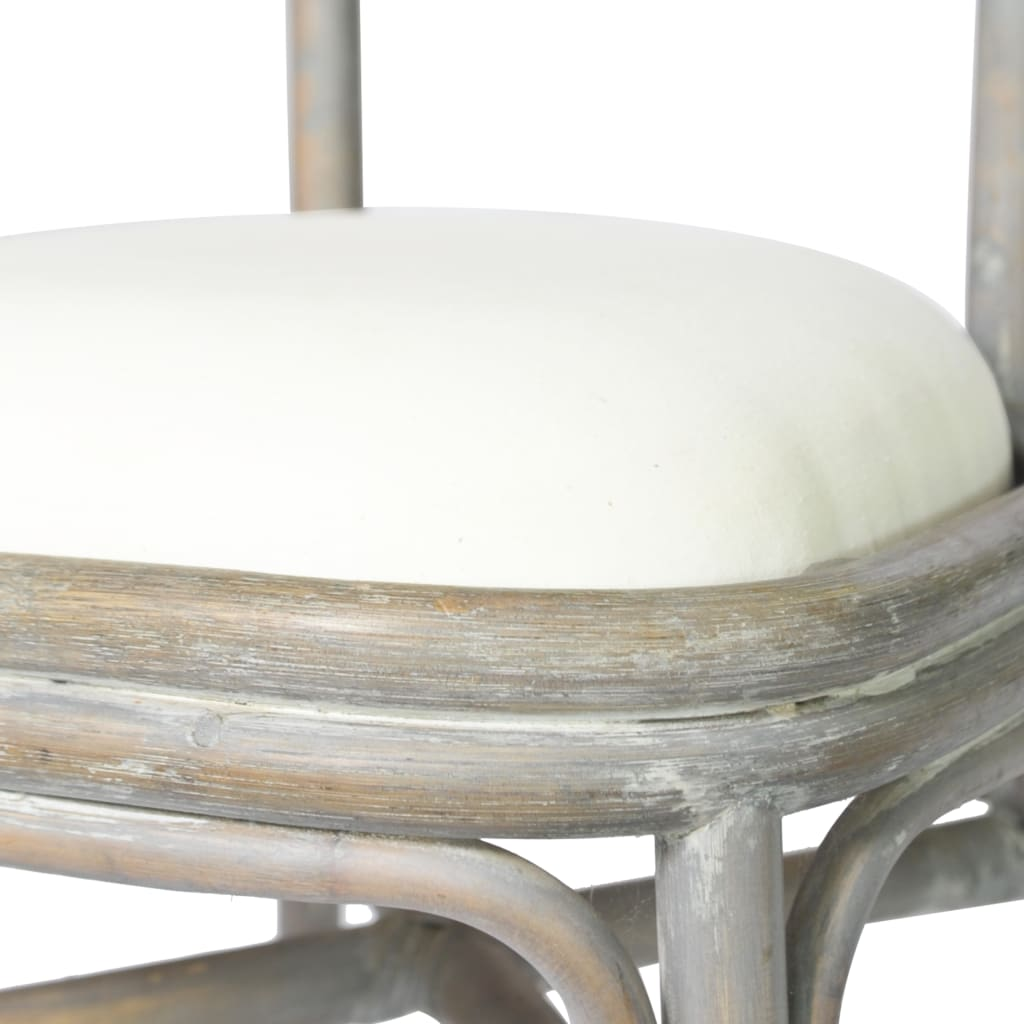 vidaXL Blagovaonske stolice 2 kom sive od platna