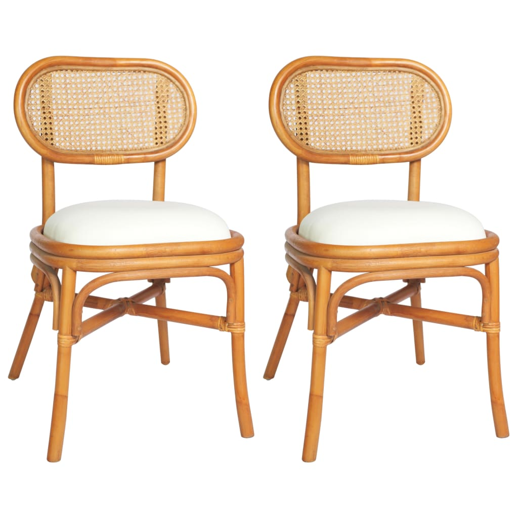 vidaXL Blagovaonske stolice od platna 2 kom svjetlosmeđe