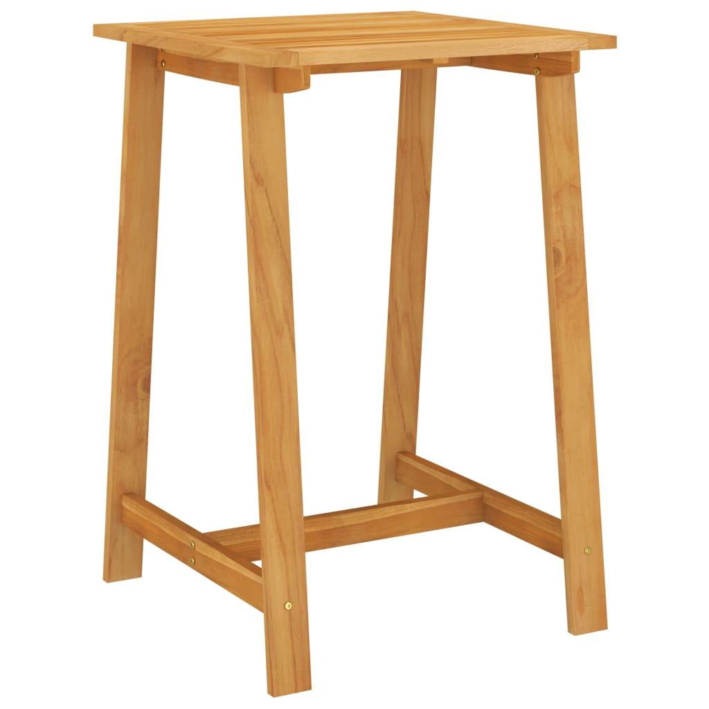 Zahradní barový stůl 70 x 70 x 104 cm masivní akáciové dřevo