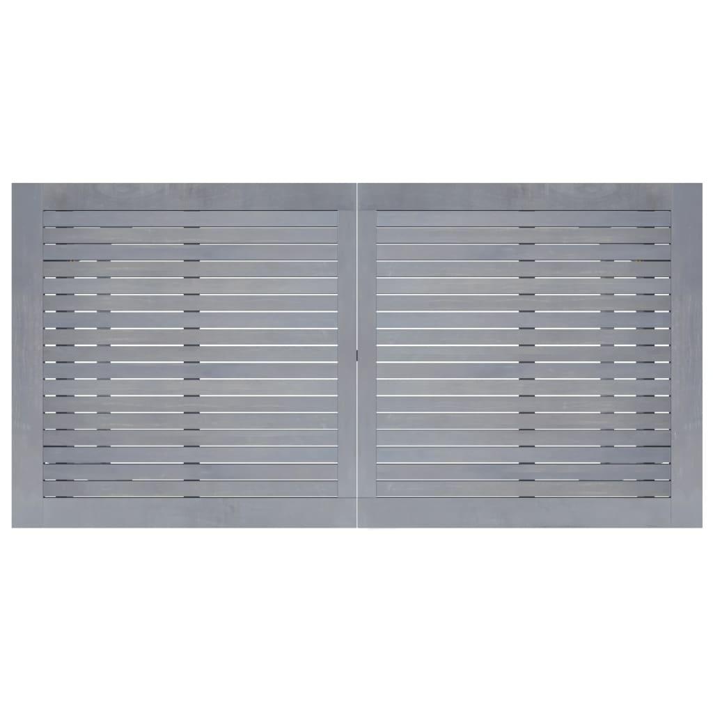 vidaXL Tuintafel 140x70x73,5 cm massief acaciahout grijs