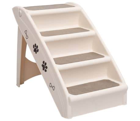 The dog stairs are suitable for small and large pets and allow them to reach their favourite places with ease. Its modern styling blends well in any home decor.