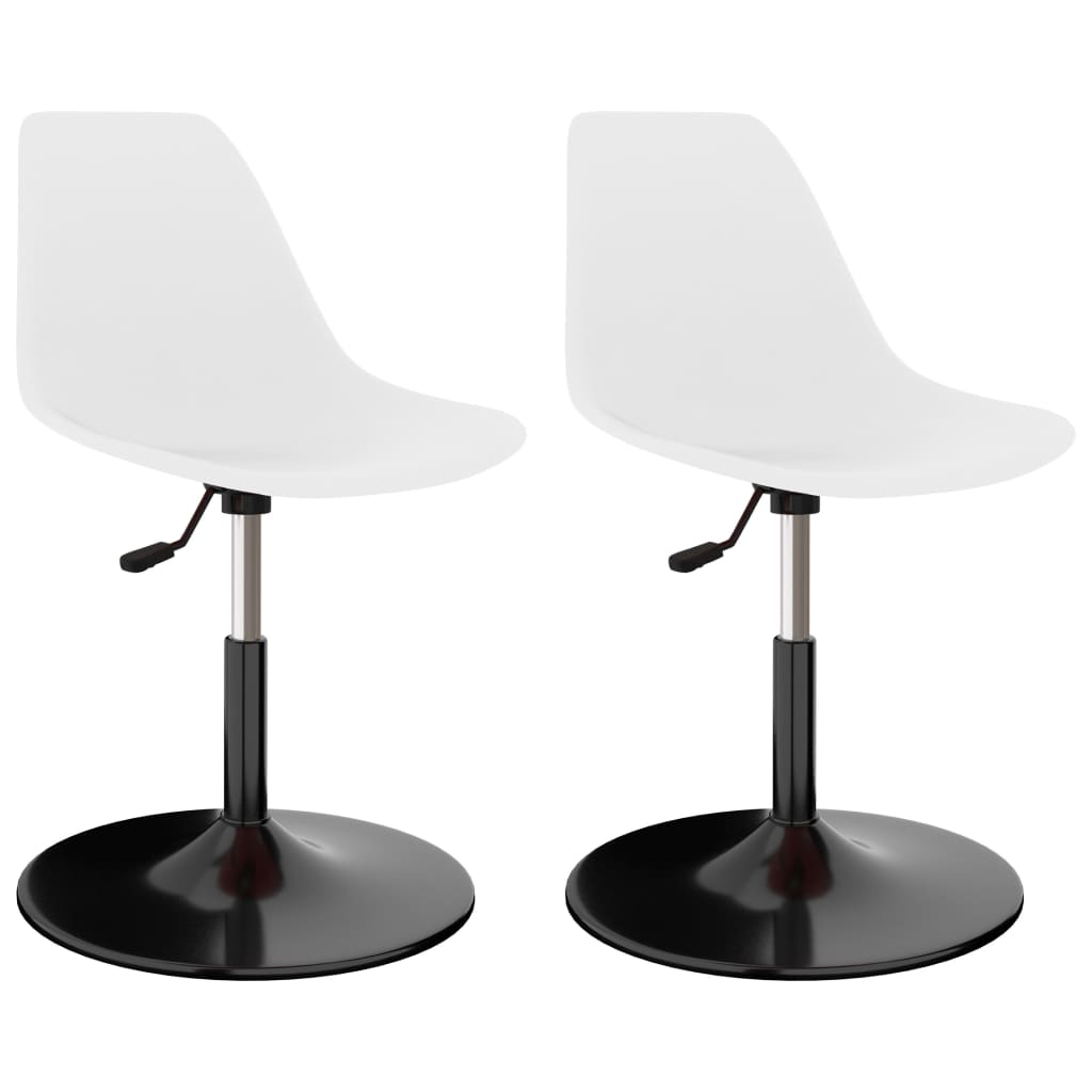 Otočné jídelní židle 2 ks bílé PP