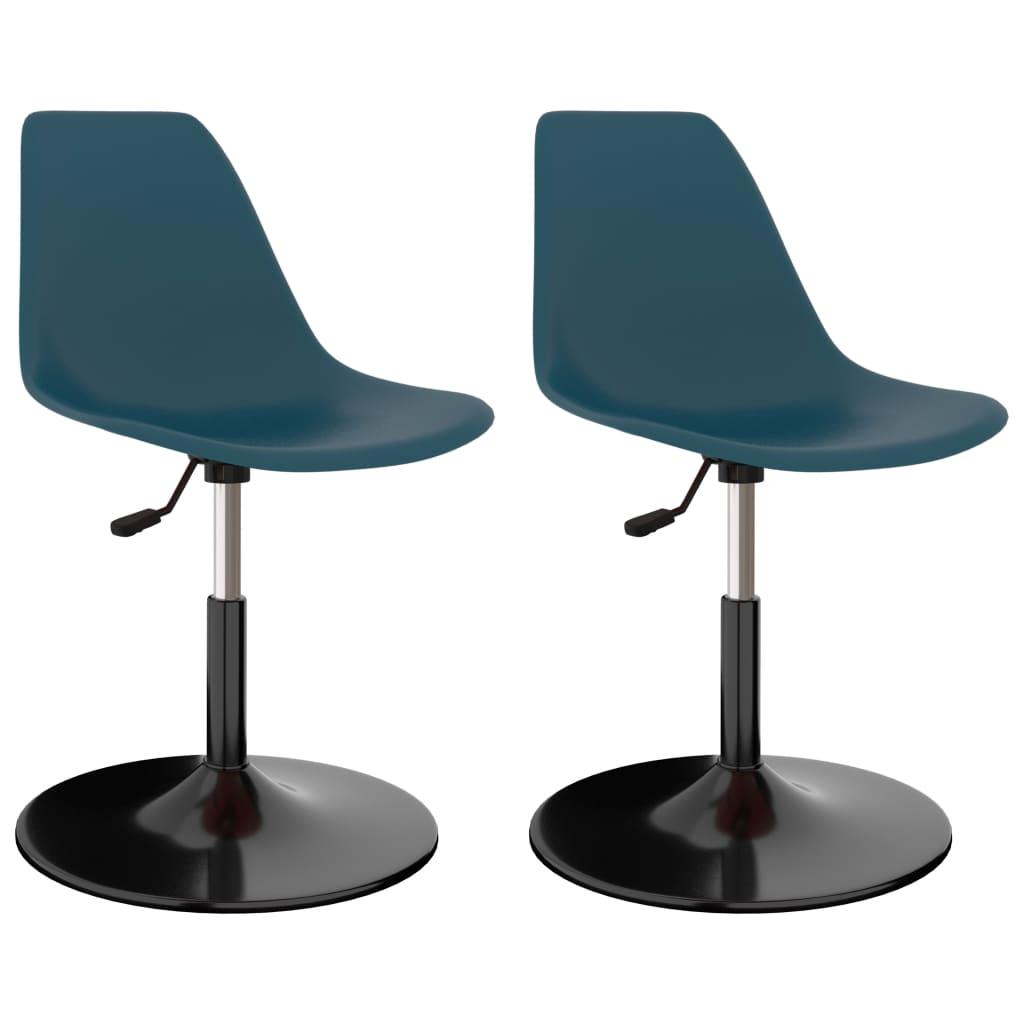 Otočné jídelní židle 2 ks tyrkysové PP