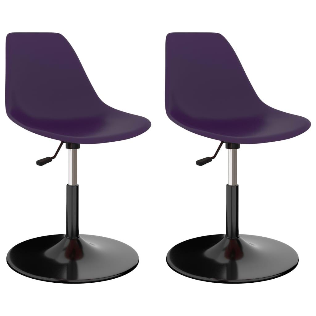 Otočné jídelní židle 2 ks lila PP