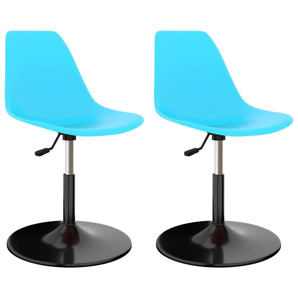 Otočné jídelní židle 2 ks modré PP