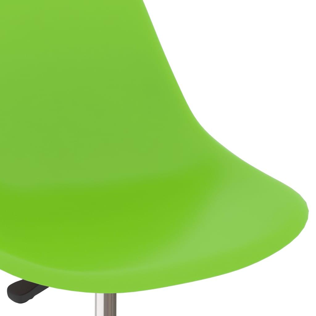 Eetkamerstoelen draaibaar 4 st PP groen