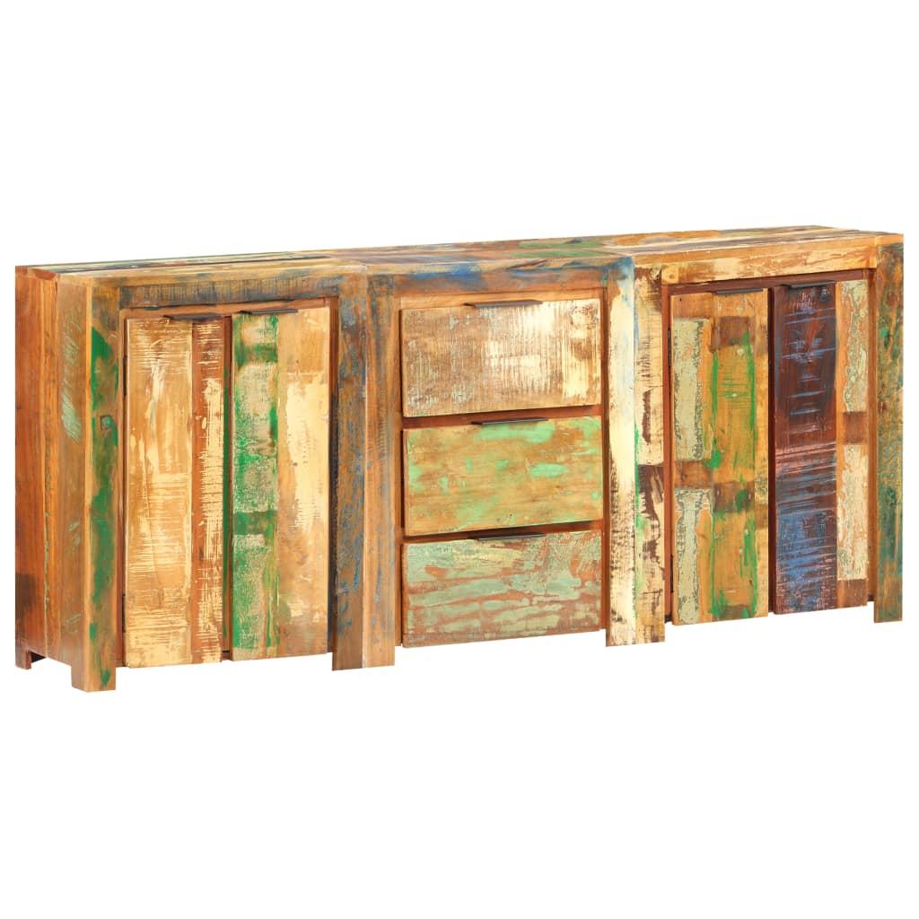 vidaXL Servantă cu 3 sertare și 4 uși, lemn masiv reciclat poza 2021 vidaXL