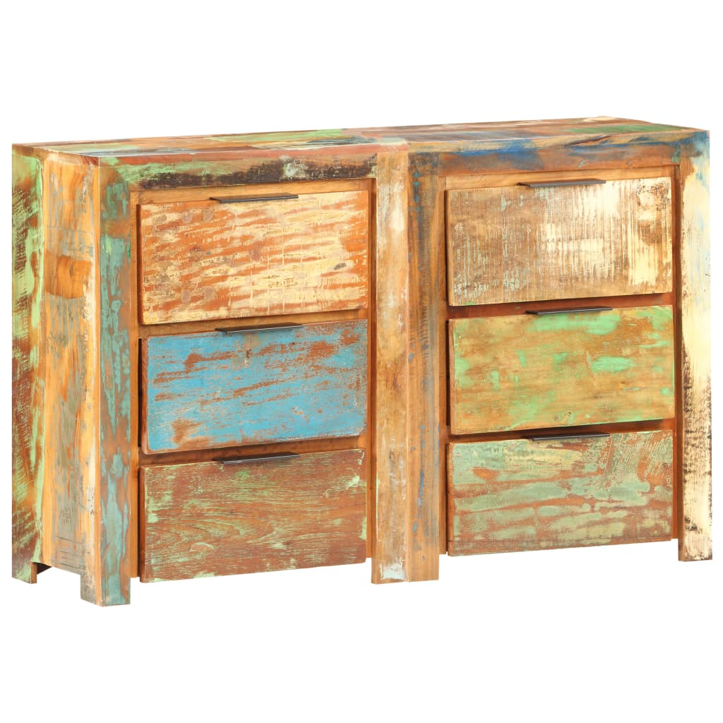 vidaXL Dulap cu sertare, 118 x 33 x 75 cm, lemn masiv reciclat vidaxl.ro