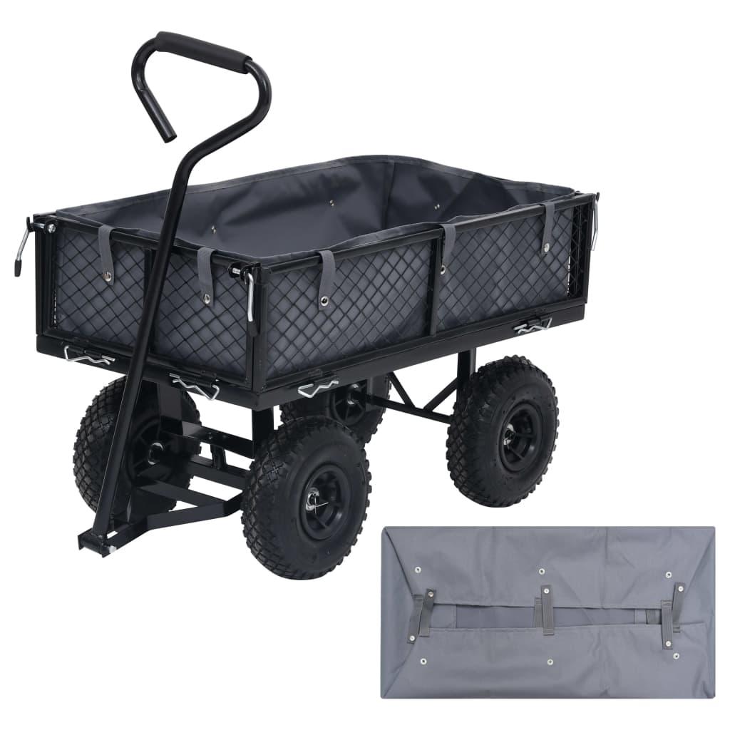 Vložka do zahradního vozíku tmavě šedá 86 x 46 x 22 cm textil