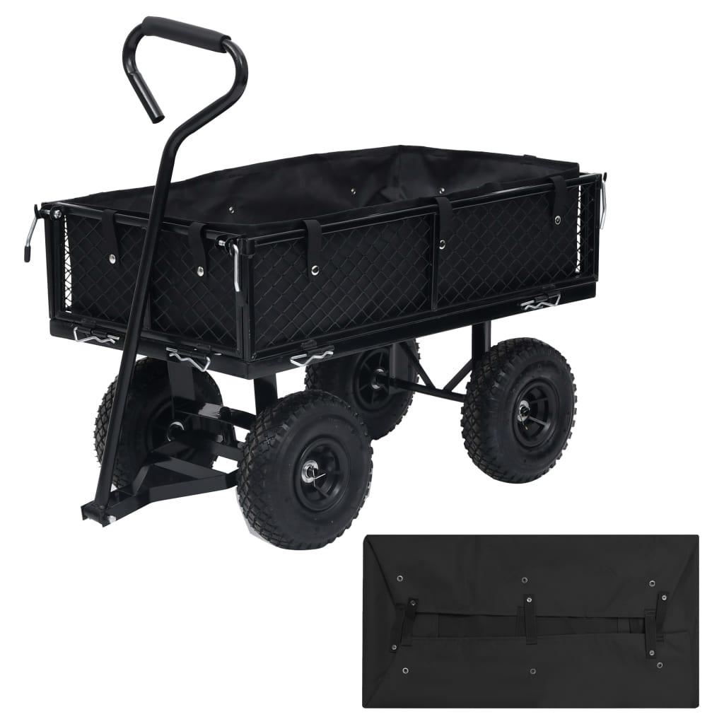 Vložka do zahradního vozíku černá 86 x 46 x 22 cm textil
