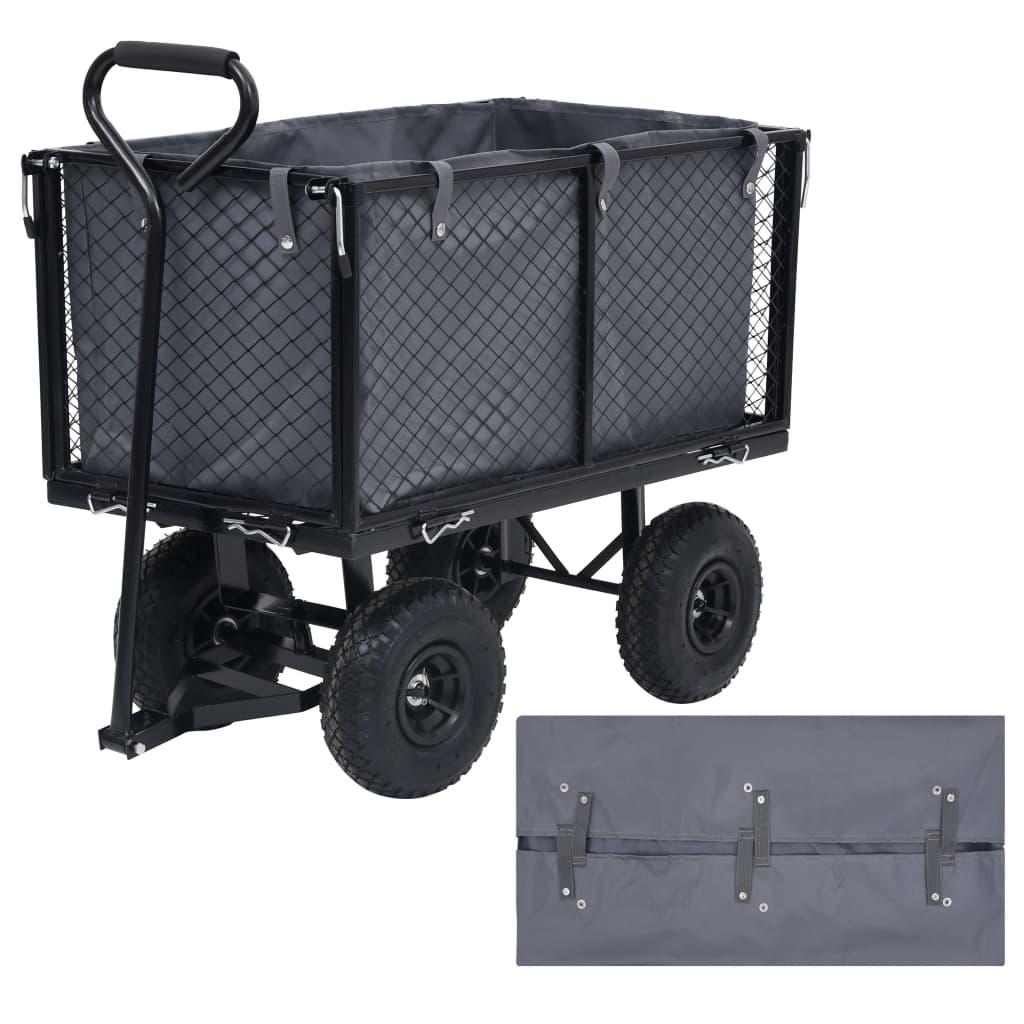 Vložka do zahradního vozíku tmavě šedá 86 x 46 x 41 cm textil