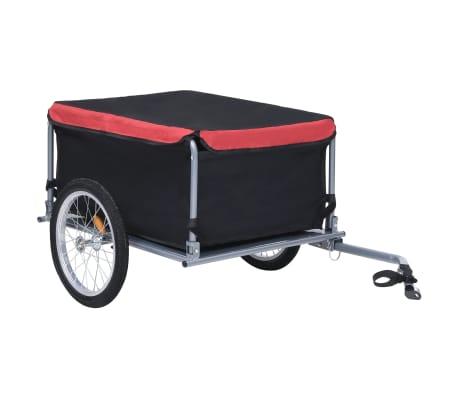 vidaXL Bike Cargo Trailer Black and Red 65 kg