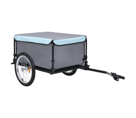 vidaXL Bike Cargo Trailer Black and Blue 65 kg