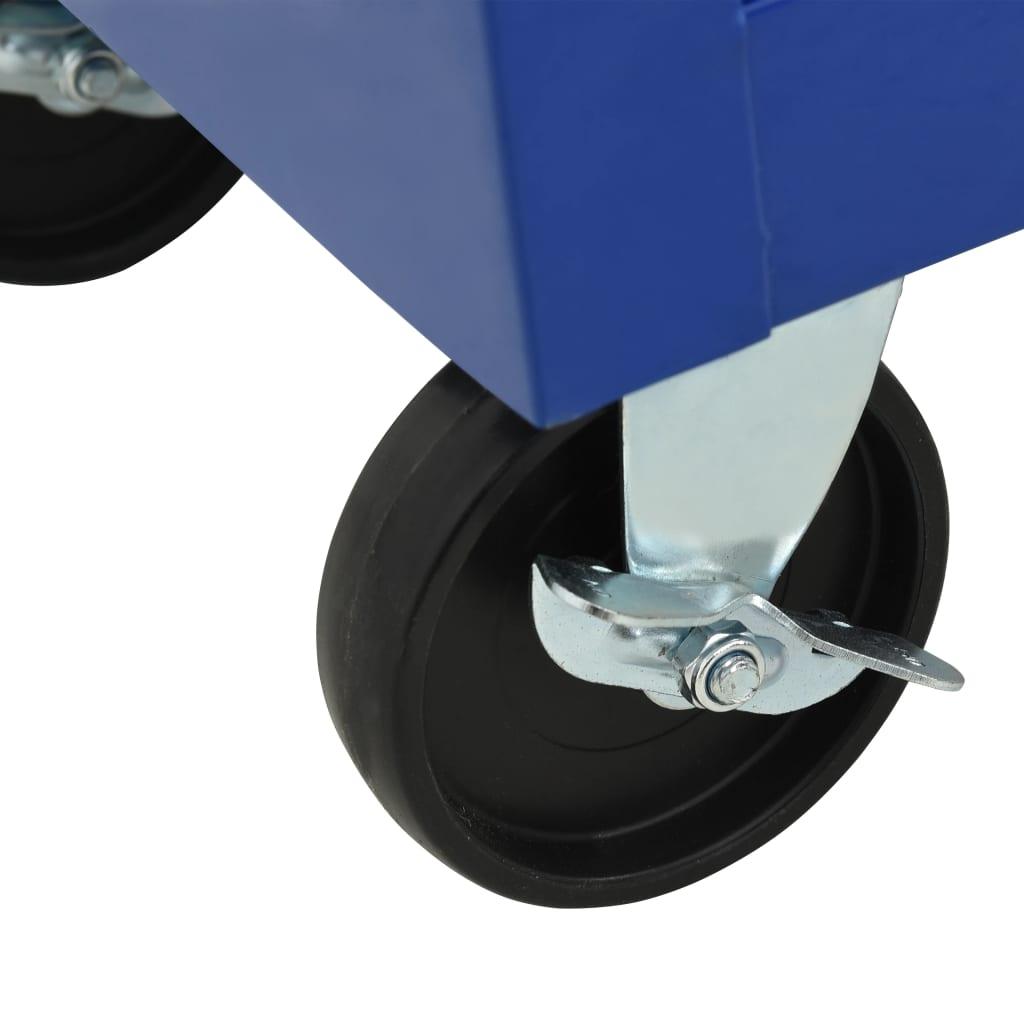 vidaXL Gereedschapswagen met 21 lades staal blauw